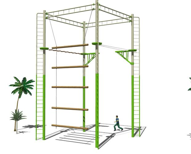 高空拓展器材-组合架4面体